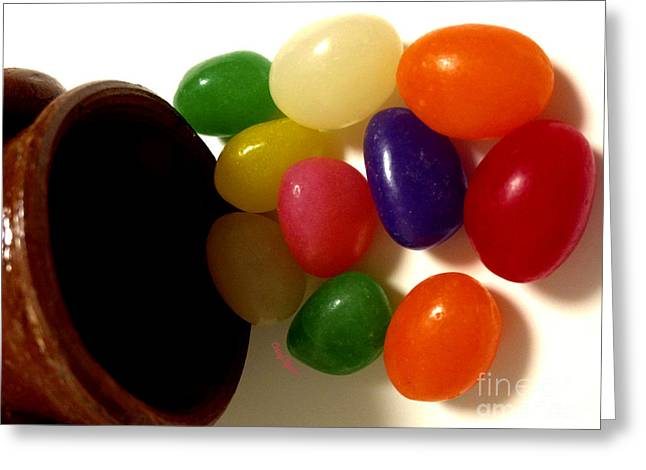 Edibles Greeting Cards - Jelly Beans Greeting Card by Cheryl Young