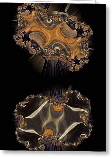 Jelly Fish Digital Art Greeting Cards - Jelly Pair Greeting Card by Ron Bissett