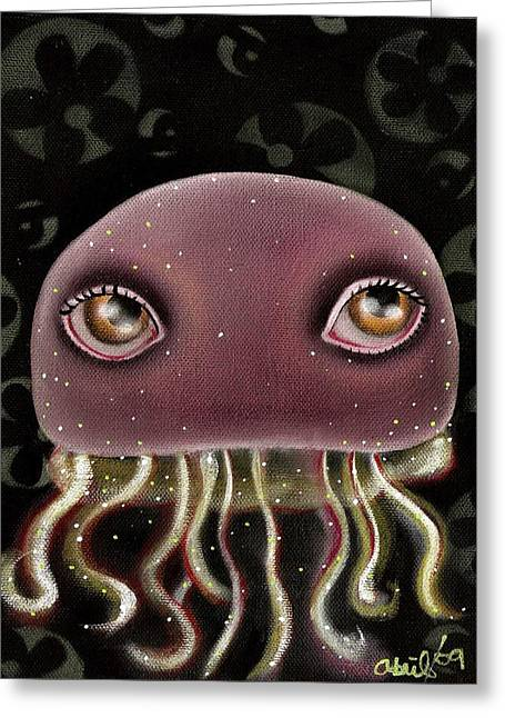 Jellyfish Art Greeting Cards - Jellyfish Greeting Card by  Abril Andrade Griffith