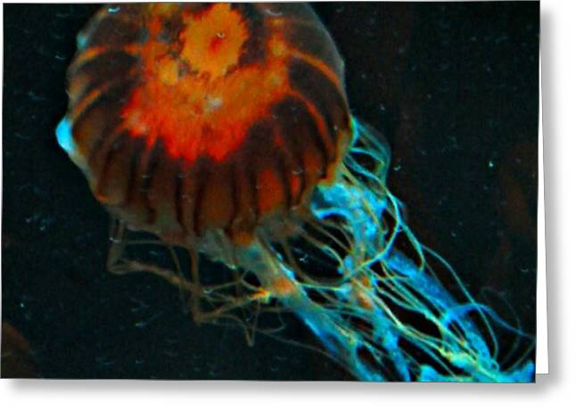 #jellyfish #instadroid #andrography Greeting Card by Kel Hill