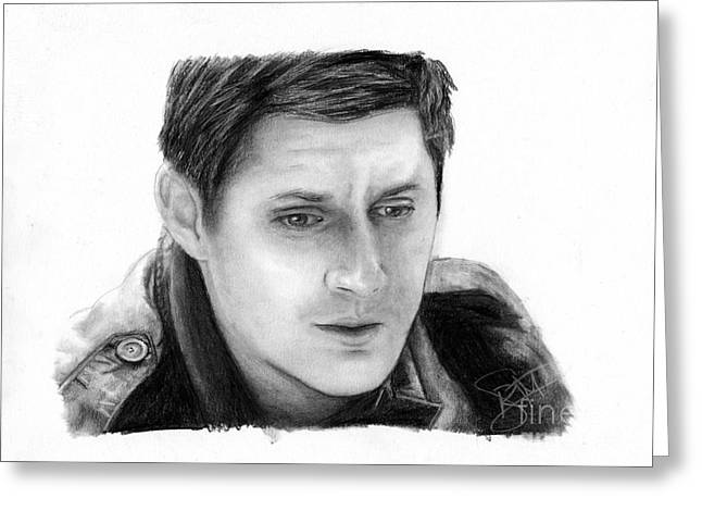 Jensen Greeting Cards - Jensen Ackles Greeting Card by Rosalinda Markle