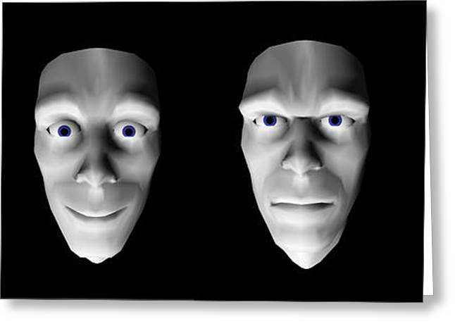 Face Recognition Photographs Greeting Cards - Jeremiah, Interactive Virtual Head Greeting Card by David Parker