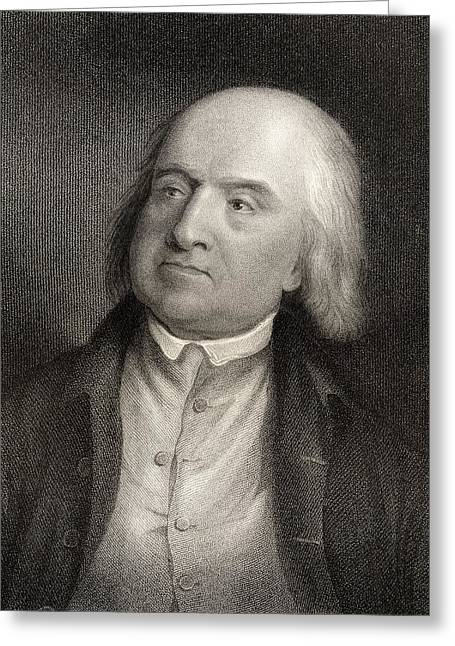 Jeremy Bentham 1748 To 1832 English Greeting Card by Ken Welsh