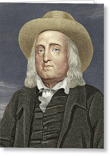 Jeremy Greeting Cards - Jeremy Bentham, British Philosopher Greeting Card by Sheila Terry
