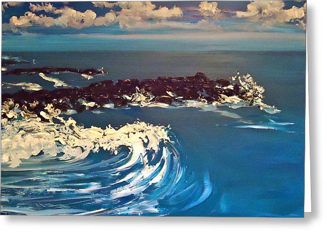 Jersey Shore Paintings Greeting Cards - Jersey Shore XII Greeting Card by Pete Maier