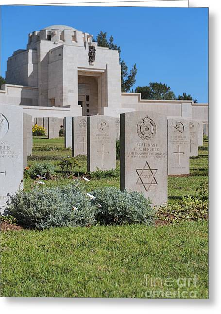 Final Resting Place Greeting Cards - Jerusalem British war cemetery Greeting Card by Noam Armonn