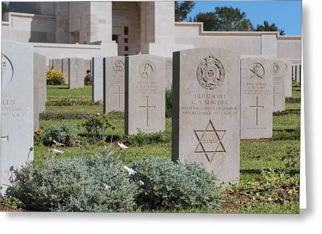 Jerusalem British war cemetery Greeting Card by Noam Armonn