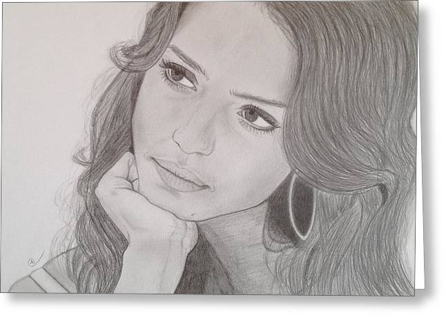 Jessica Alba Greeting Cards - Jessica Greeting Card by Andrew Nelson