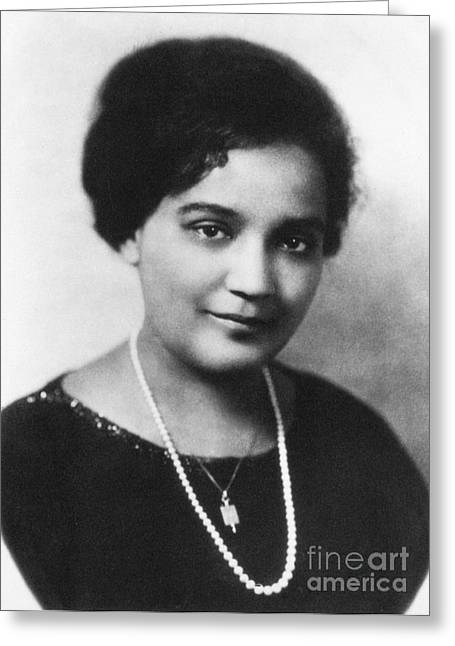 Harlem Renaissance Greeting Cards - Jessie Redmon Fauset (1882-1961) Greeting Card by Granger