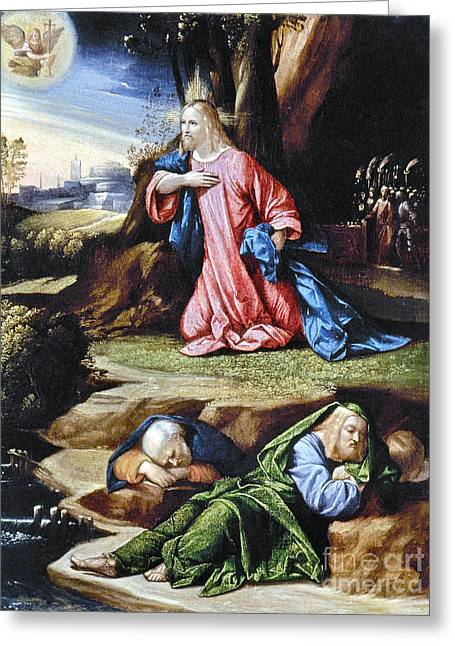 Agony In Garden Greeting Cards - Jesus: Agony In The Garden Greeting Card by Granger