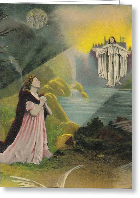 Jesus Appears Greeting Card by Anne Cameron Cutri