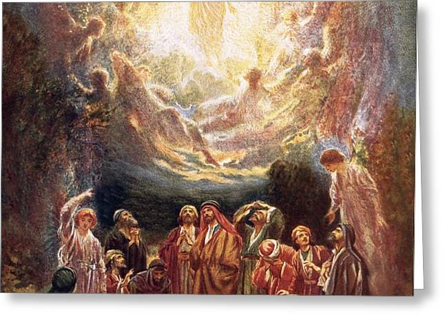 Jesus ascending into heaven Greeting Card by William Brassey Hole