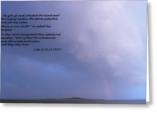 Recently Sold -  - Storm Prints Digital Art Greeting Cards - Jesus Calms the Storm Greeting Card by Sheri McLeroy