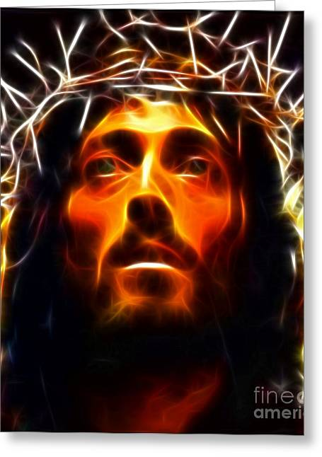 Messiah Greeting Cards - Jesus Christ The Savior Greeting Card by Pamela Johnson