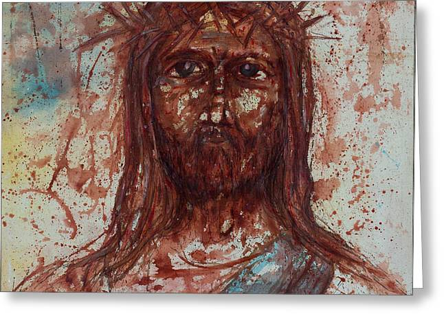 Jesus Christ Greeting Card by Thomas Lentz