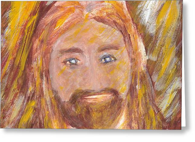 Jesus is The Christ The Holy Messiah 5 Greeting Card by Richard W Linford