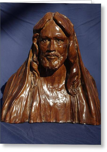 Bible Sculptures Greeting Cards - Jesus of Nazareth Greeting Card by Rick Ahlvers