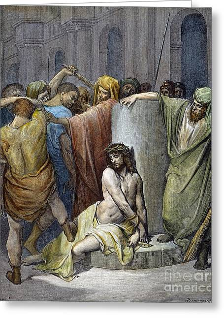 Pontius Greeting Cards - Jesus: Scourging Greeting Card by Granger