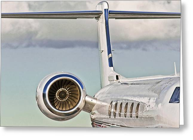 Thrust Greeting Cards - Jet Aircraft Greeting Card by Patrick M Lynch
