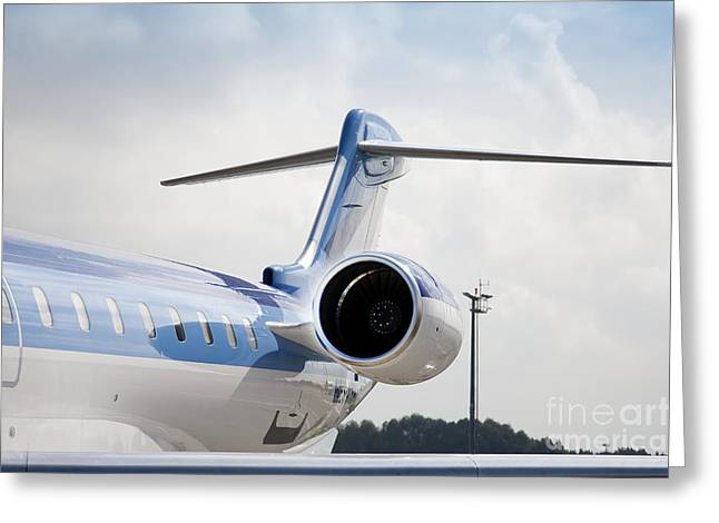 Airline Industry Greeting Cards - Jet Airplane Tail Greeting Card by Jaak Nilson