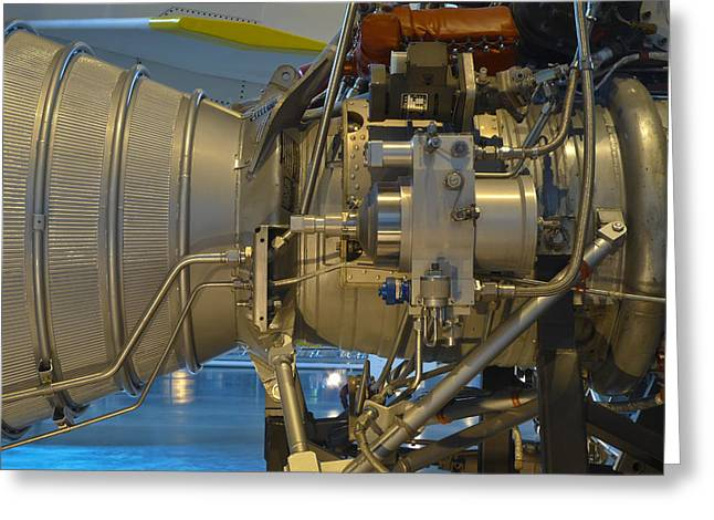 Aerospace Industry Greeting Cards - Jet Engine On Display In A Museum Greeting Card by Greg Dale