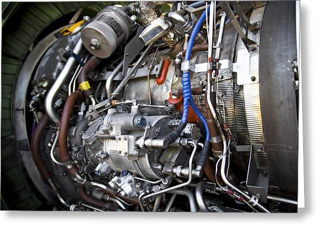 Aeronautics Greeting Cards - Jet Engine Greeting Card by Ricky Barnard