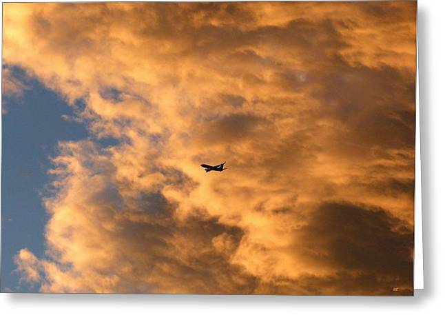 737 Greeting Cards - Jet Silhouette Greeting Card by Will Borden