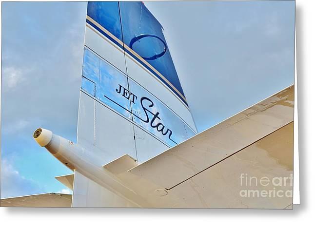 Jet Star Greeting Card by Lynda Dawson-Youngclaus