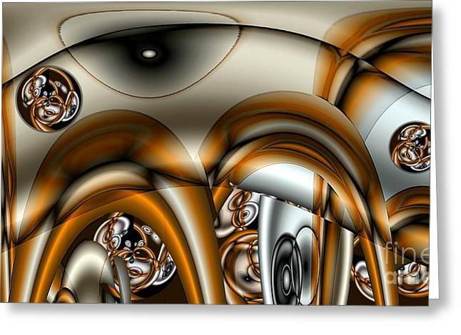 Merging Greeting Cards - Jet Stream Greeting Card by Ron Bissett