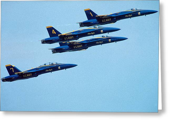 Angel Blues Greeting Cards - Jets-4 Greeting Card by Karl Voss