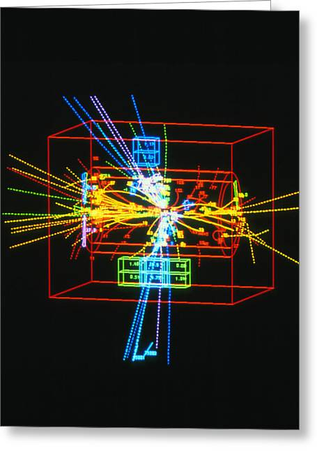 Quark Greeting Cards - Jets Of Particles From Matter/antimatter Collision Greeting Card by David Parker