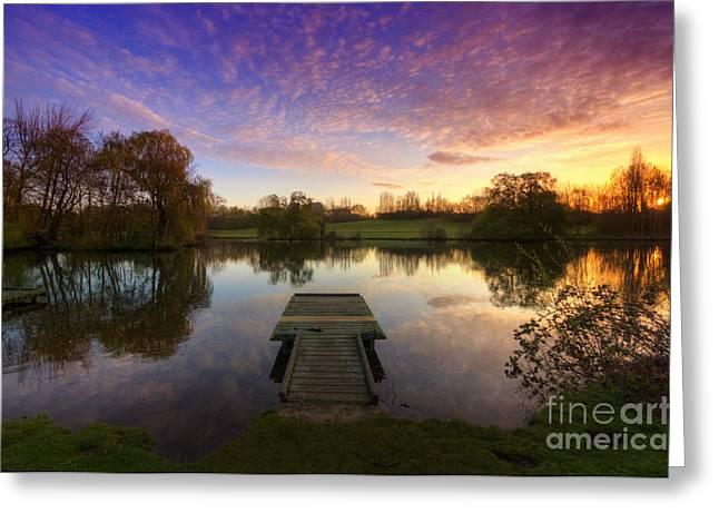 Jetty Sunrise 4.0 Greeting Card by Yhun Suarez