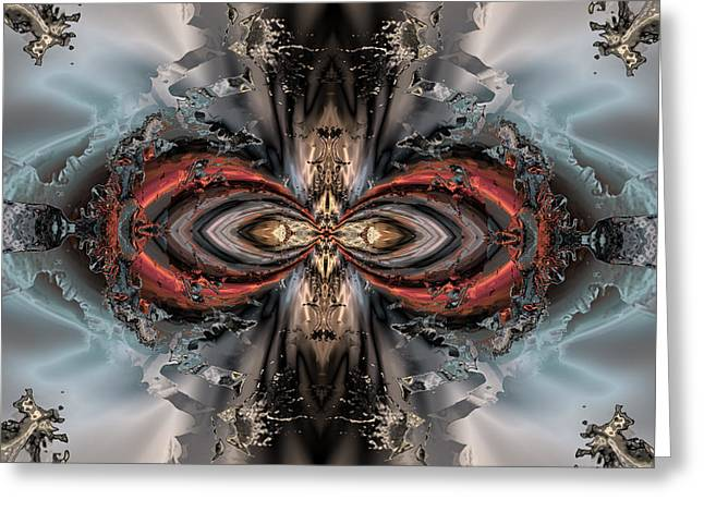 Generative Abstract Greeting Cards - Jewel of the ice princess Greeting Card by Claude McCoy