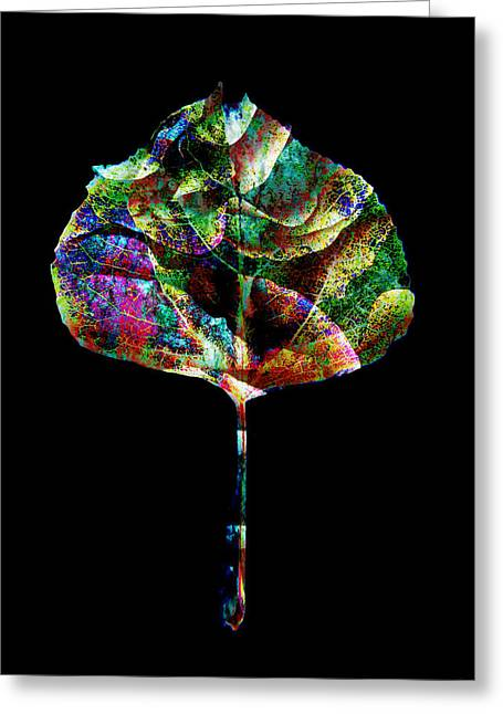 Ann Powell Art Greeting Cards - Jewel Tone Leaf Greeting Card by Ann Powell