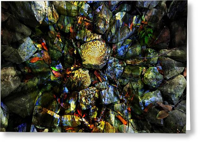 Jeweled Cavern Greeting Card by Mindy Newman