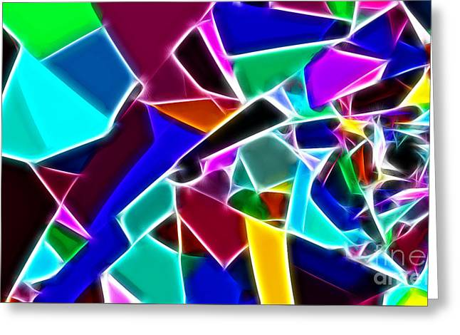 Jewels Digital Greeting Cards - Jewelled Greeting Card by Methune Hively
