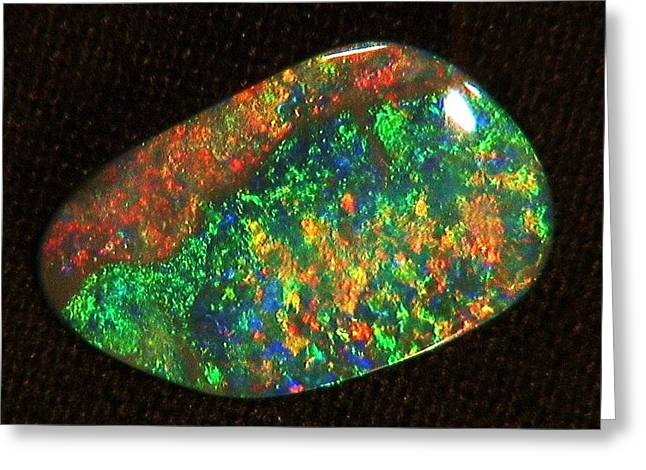 Jewellery Jewelry Greeting Cards - Jewellery Jewelry Opal  ORIGINAL OPAL GEMSTONE IS FOR SALE eight fifty dollars Greeting Card by Michael Clarke JP
