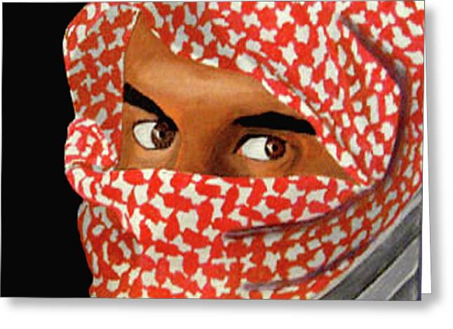 Recently Sold -  - Darren Stein Paintings Greeting Cards - Jihadi Greeting Card by Darren Stein