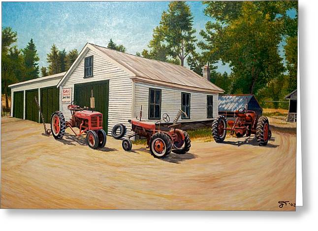 Maine Farms Paintings Greeting Cards - Jim Build Greeting Card by Jeff Toole