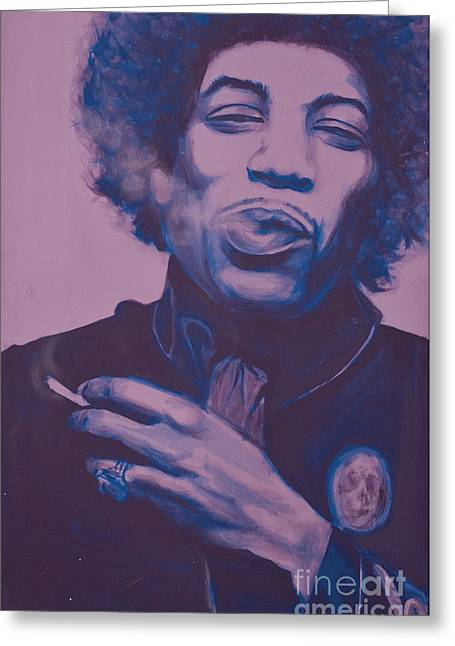 Sand Castles Mixed Media Greeting Cards - Jimi Greeting Card by Derek Donnelly