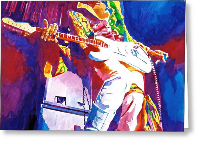 Jimi Hendrix - THE ULTIMATE Greeting Card by David Lloyd Glover