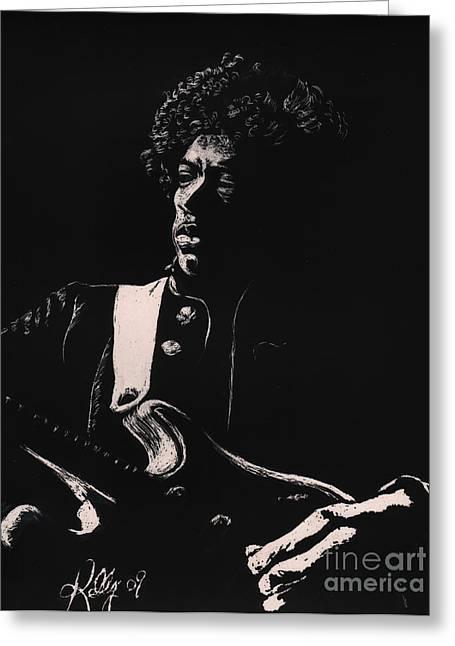 Jimi Hendrix Drawings Greeting Cards - Jimi Hendrix Greeting Card by Kathleen Kelly Thompson
