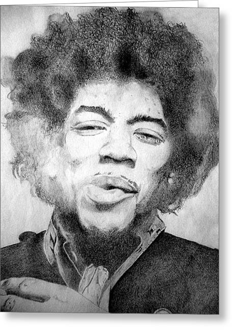 Johnny Allen Hendrix Greeting Cards - Jimi Hendrix - Medium Greeting Card by Robert Lance