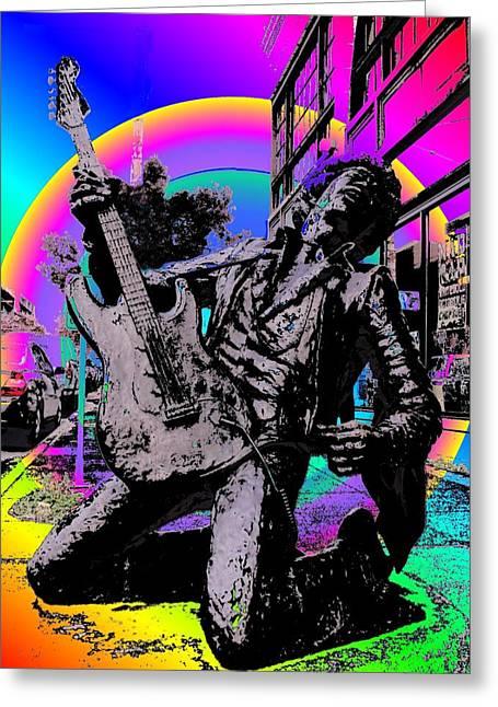 Tim Allen Greeting Cards - Jimi Hendrix Greeting Card by Tim Allen