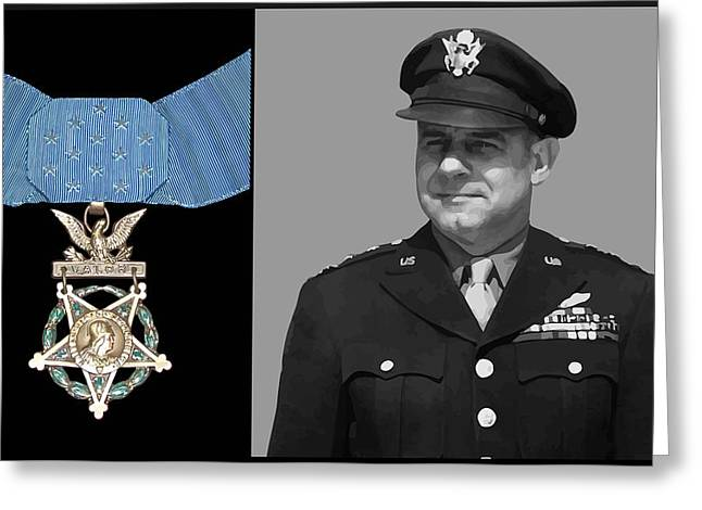 Pilot Greeting Cards - Jimmy Doolittle and The Medal of Honor Greeting Card by War Is Hell Store