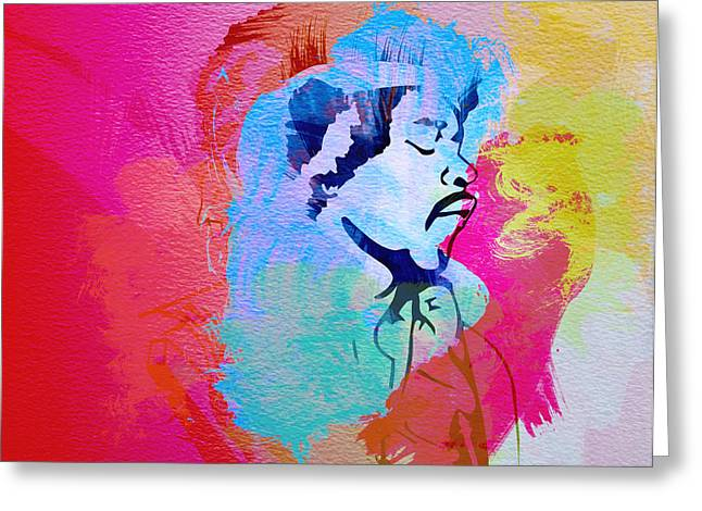 Jimmy Hendrix Greeting Card by Naxart Studio