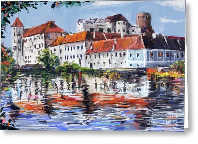 Jindrichuv Greeting Cards - Jindrichuv Hradec city Greeting Card by Ondrej Soukup