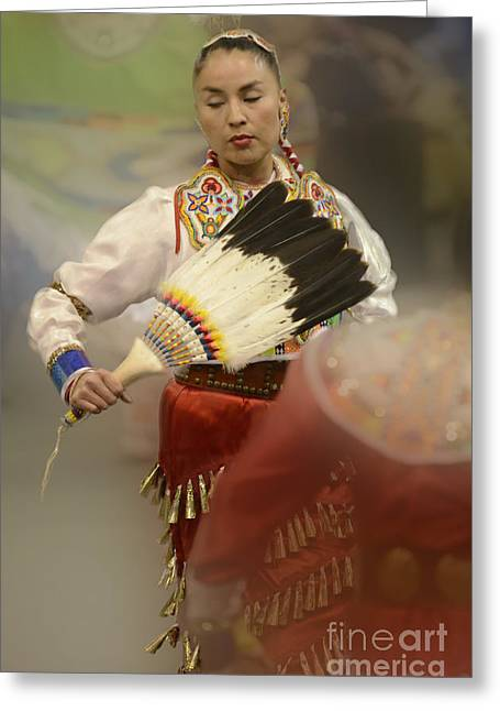 Fancy-dancer Greeting Cards - Jingle Dancer 1 Greeting Card by Bob Christopher