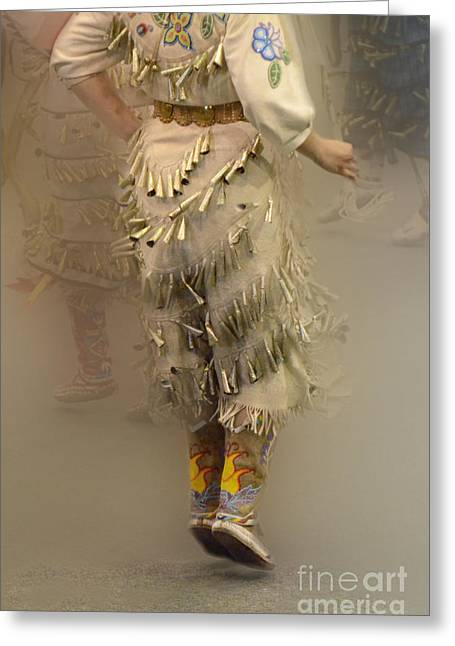 Fancy-dancer Greeting Cards - Jingle Dancer 9 Greeting Card by Bob Christopher