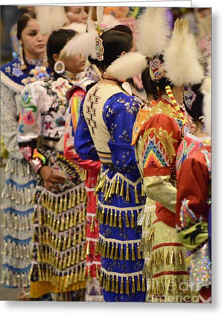 Fancy-dancer Greeting Cards - Jingle Dancers 5 Greeting Card by Bob Christopher